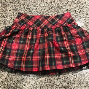 Justice Plaid Skirt